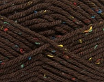 Fiber Content 72% Acrylic, 3% Viscose, 25% Wool, Brand ICE, Brown, Yarn Thickness 6 SuperBulky  Bulky, Roving, fnt2-40836
