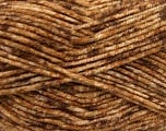 Fiber indhold 70% Akryl, 30% Uld, Brand Ice Yarns, Brown Shades, Yarn Thickness 4 Medium  Worsted, Afghan, Aran, fnt2-40888