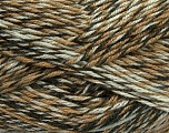 Fiber Content 75% Acrylic, 25% Wool, White, Khaki, Brand ICE, Brown Shades, Yarn Thickness 4 Medium  Worsted, Afghan, Aran, fnt2-40894