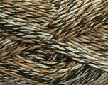 Fiber Content 75% Acrylic, 25% Wool, White, Khaki, Brand Ice Yarns, Brown Shades, Yarn Thickness 4 Medium  Worsted, Afghan, Aran, fnt2-40894