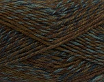 Fiber Content 75% Acrylic, 25% Wool, Navy, Light Blue, Khaki, Brand Ice Yarns, Brown, Yarn Thickness 4 Medium  Worsted, Afghan, Aran, fnt2-40896