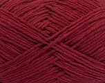Please note that the yarn weight and the ball length may vary from one color to another for this yarn. Fiber Content 100% Cotton, Brand Ice Yarns, Burgundy, Yarn Thickness 3 Light  DK, Light, Worsted, fnt2-40906