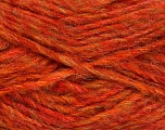 Fiber Content 43% Acrylic, 27% Polyamide, 15% Wool, 15% Mohair, Orange Shades, Brand ICE, Yarn Thickness 5 Bulky  Chunky, Craft, Rug, fnt2-41163
