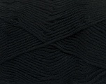 Fiber Content 50% Cotton, 50% Bamboo, Brand Ice Yarns, Black, Yarn Thickness 2 Fine  Sport, Baby, fnt2-41437