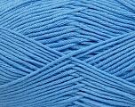 Fiber Content 50% Cotton, 50% Bamboo, Light Blue, Brand ICE, Yarn Thickness 2 Fine  Sport, Baby, fnt2-41448
