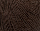 Fiber Content 60% Cotton, 40% Acrylic, Brand ICE, Dark Brown, Yarn Thickness 2 Fine  Sport, Baby, fnt2-42184
