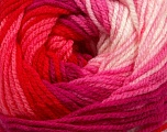 Fiber Content 100% Premium Acrylic, White, Red, Pink Shades, Brand Ice Yarns, Yarn Thickness 3 Light  DK, Light, Worsted, fnt2-42200