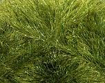 Fiber Content 75% Polyester, 25% Metallic Lurex, Brand Ice Yarns, Green, Yarn Thickness 5 Bulky  Chunky, Craft, Rug, fnt2-42260