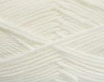 Fiber Content 50% Acrylic, 50% Polyamide, White, Brand Ice Yarns, Yarn Thickness 3 Light  DK, Light, Worsted, fnt2-42370