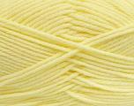 Fiber Content 50% Acrylic, 50% Polyamide, Brand Ice Yarns, Baby Yellow, Yarn Thickness 3 Light  DK, Light, Worsted, fnt2-42389