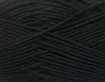 Fiber Content 50% Acrylic, 50% Wool, Brand ICE, Black, Yarn Thickness 4 Medium  Worsted, Afghan, Aran, fnt2-42527