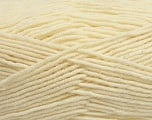 Fiber Content 50% Acrylic, 50% Wool, Brand ICE, Cream, Yarn Thickness 4 Medium  Worsted, Afghan, Aran, fnt2-42535