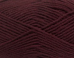 Fiber Content 50% Acrylic, 50% Wool, Maroon, Brand ICE, Yarn Thickness 4 Medium  Worsted, Afghan, Aran, fnt2-42537