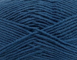 Fiber Content 50% Wool, 50% Acrylic, Brand Ice Yarns, Blue, Yarn Thickness 4 Medium  Worsted, Afghan, Aran, fnt2-42542