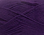 Fiber Content 50% Wool, 50% Acrylic, Purple, Brand ICE, Yarn Thickness 4 Medium  Worsted, Afghan, Aran, fnt2-42543