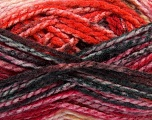 Easy knit bulky yarn. Note that this is a self-stripping yarn. Please see package photos for the color change. Machine washable and dryable. Fiber Content 100% Acrylic, Red, Brand Ice Yarns, Grey, Burgundy, Brown, Black, Yarn Thickness 5 Bulky  Chunky, Craft, Rug, fnt2-42550