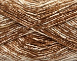 Strong pure cotton yarn in beautiful colours, reminiscent of bleached denim. Machine washable and dryable. Fiber Content 100% Cotton, White, Brand Ice Yarns, Brown, Yarn Thickness 3 Light  DK, Light, Worsted, fnt2-42557