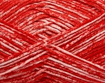 Strong pure cotton yarn in beautiful colours, reminiscent of bleached denim. Machine washable and dryable. Fiber Content 100% Cotton, White, Red, Brand Ice Yarns, Yarn Thickness 3 Light  DK, Light, Worsted, fnt2-42560
