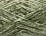 Strong pure cotton yarn in beautiful colours, reminiscent of bleached denim. Machine washable and dryable. Fiber Content 100% Cotton, White, Khaki, Brand Ice Yarns, Yarn Thickness 3 Light  DK, Light, Worsted, fnt2-42565