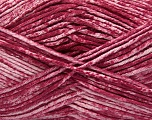 Strong pure cotton yarn in beautiful colours, reminiscent of bleached denim. Machine washable and dryable. Fiber Content 100% Cotton, White, Orchid, Brand Ice Yarns, Yarn Thickness 3 Light  DK, Light, Worsted, fnt2-42566