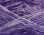 Strong pure cotton yarn in beautiful colours, reminiscent of bleached denim. Machine washable and dryable. Fiber Content 100% Cotton, White, Purple, Brand Ice Yarns, Yarn Thickness 3 Light  DK, Light, Worsted, fnt2-42569