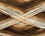Fiber Content 100% AntiBacterial Micro Dralon, Brand Ice Yarns, Cream, Brown Shades, Yarn Thickness 2 Fine  Sport, Baby, fnt2-42644