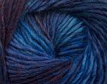 Fiber Content 70% Dralon, 30% Wool, Purple, Maroon, Brand Ice Yarns, Blue Shades, Yarn Thickness 4 Medium  Worsted, Afghan, Aran, fnt2-42697