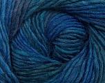 Fiber Content 70% Dralon, 30% Wool, Brand Ice Yarns, Blue Shades, Yarn Thickness 4 Medium  Worsted, Afghan, Aran, fnt2-42698