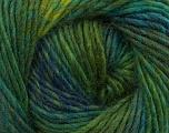 Fiber Content 70% Dralon, 30% Wool, Brand Ice Yarns, Green Shades, Blue, Yarn Thickness 4 Medium  Worsted, Afghan, Aran, fnt2-42699