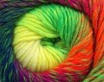 Fiber Content 70% Dralon, 30% Wool, Purple, Neon Yellow, Neon Orange, Neon Green, Navy, Brand Ice Yarns, Yarn Thickness 4 Medium  Worsted, Afghan, Aran, fnt2-42704