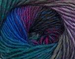 Fiber Content 70% Dralon, 30% Wool, Teal, Purple, Lilac, Brand Ice Yarns, Grey, Blue, Yarn Thickness 4 Medium  Worsted, Afghan, Aran, fnt2-42708