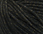 Fiber Content 8% Polyamide, 77% Acrylic, 15% Metallic Lurex, Brand Ice Yarns, Gold, Black, Yarn Thickness 5 Bulky  Chunky, Craft, Rug, fnt2-42724