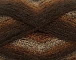 Fiber Content 90% Acrylic, 10% Polyamide, Brand ICE, Brown Shades, Yarn Thickness 4 Medium  Worsted, Afghan, Aran, fnt2-42754