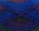 Fiber Content 90% Acrylic, 10% Polyamide, Purple, Brand ICE, Green, Copper, Blue, Yarn Thickness 4 Medium  Worsted, Afghan, Aran, fnt2-42759