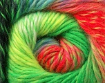 Fiber Content 70% Dralon, 30% Wool, Neon Colors, Brand ICE, Yarn Thickness 4 Medium  Worsted, Afghan, Aran, fnt2-42774