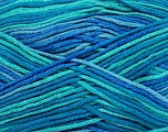 Fiber Content 50% Bamboo, 50% Cotton, Turquoise, Brand Ice Yarns, Blue, Yarn Thickness 3 Light  DK, Light, Worsted, fnt2-42813