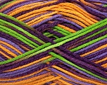 Fiber Content 50% Cotton, 50% Bamboo, Purple, Lilac, Brand Ice Yarns, Green, Gold, Yarn Thickness 3 Light  DK, Light, Worsted, fnt2-42815