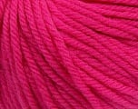 SUPERWASH WOOL BULKY is a bulky weight 100% superwash wool yarn. Perfect stitch definition, and a soft-but-sturdy finished fabric. Projects knit and crocheted in SUPERWASH WOOL BULKY are machine washable! Lay flat to dry. Fiber Content 100% Superwash Wool, Brand Ice Yarns, Fuchsia, Yarn Thickness 5 Bulky  Chunky, Craft, Rug, fnt2-42844