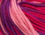 SUPERWASH WOOL BULKY is a bulky weight 100% superwash wool yarn. Perfect stitch definition, and a soft-but-sturdy finished fabric. Projects knit and crocheted in SUPERWASH WOOL BULKY are machine washable! Lay flat to dry. Fiber Content 100% Superwash Wool, Purple, Pink, Brand Ice Yarns, Fuchsia, Yarn Thickness 5 Bulky  Chunky, Craft, Rug, fnt2-42851
