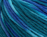 SUPERWASH WOOL BULKY is a bulky weight 100% superwash wool yarn. Perfect stitch definition, and a soft-but-sturdy finished fabric. Projects knit and crocheted in SUPERWASH WOOL BULKY are machine washable! Lay flat to dry. Fiber Content 100% Superwash Wool, Teal, Brand ICE, Blue Shades, Yarn Thickness 5 Bulky  Chunky, Craft, Rug, fnt2-42856