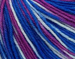 SUPERWASH WOOL is a DK weight 100% superwash wool yarn. Perfect stitch definition, and a soft-but-sturdy finished fabric. Projects knit and crocheted in SUPERWASH WOOL are machine washable! Lay flat to dry. Fiber Content 100% Superwash Wool, Purple, Brand Ice Yarns, Blue Shades, Yarn Thickness 3 Light  DK, Light, Worsted, fnt2-42953