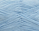 Fiber Content 50% Viscose, 50% Bamboo, Light Indigo Blue, Brand Ice Yarns, Yarn Thickness 2 Fine  Sport, Baby, fnt2-43038