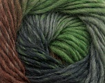 Fiber Content 100% Wool, Brand Ice Yarns, Grey Shades, Green, Brown, Yarn Thickness 4 Medium  Worsted, Afghan, Aran, fnt2-43063