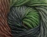 Fiber Content 100% Wool, Brand Ice Yarns, Grey Shades, Green, Brown, Yarn Thickness 4 Medium  Worsted, Afghan, Aran, fnt2-43063