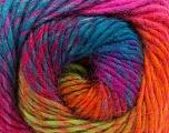 Fiber Content 70% Dralon, 30% Wool, Turquoise, Purple, Pink, Brand Ice Yarns, Green, Yarn Thickness 4 Medium  Worsted, Afghan, Aran, fnt2-43142