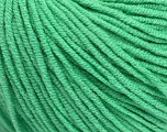 Fiber Content 50% Acrylic, 50% Cotton, Brand ICE, Emerald Green, Yarn Thickness 3 Light  DK, Light, Worsted, fnt2-43837