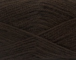 Fiber Content 100% Premium Acrylic, Brand Ice Yarns, Dark Brown, Yarn Thickness 3 Light  DK, Light, Worsted, fnt2-43838