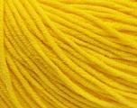 Fiber Content 50% Cotton, 50% Acrylic, Yellow, Brand ICE, Yarn Thickness 3 Light  DK, Light, Worsted, fnt2-43861