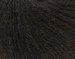 Fiber Content 50% Acrylic, 25% Merino Wool, 25% Alpaca, Brand ICE, Dark Brown, Yarn Thickness 2 Fine  Sport, Baby, fnt2-44018