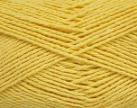 Fiber Content 100% Cotton, Light Yellow, Brand Ice Yarns, Yarn Thickness 3 Light  DK, Light, Worsted, fnt2-44329